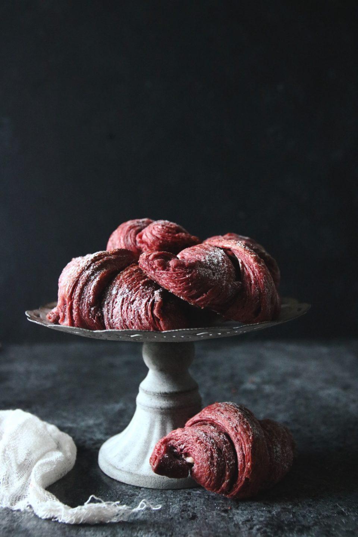 Red Velvet croissants med färskost