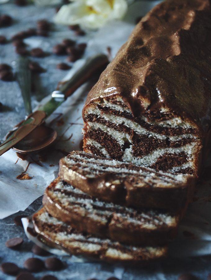 saftig sockerkaka med choklad
