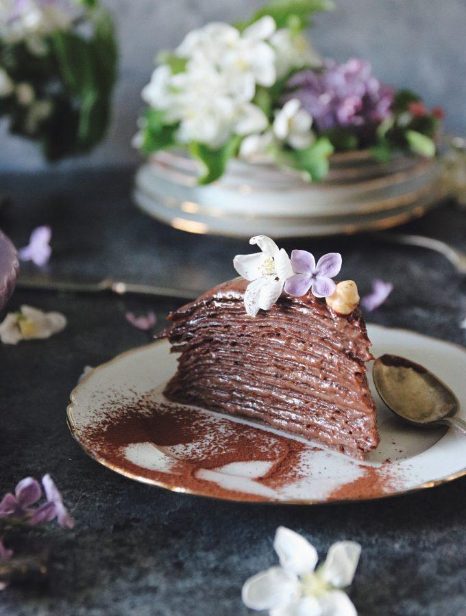choklad pannkakstårta