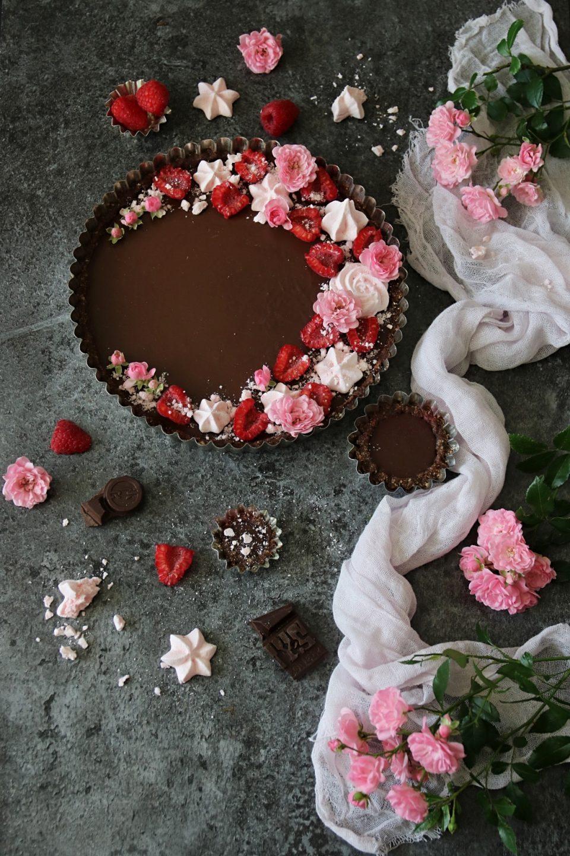 chokladpaj med hallon