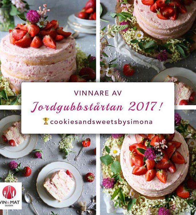 VINNARE AV SVERIGES VACKRASTE TÅRTA 2017
