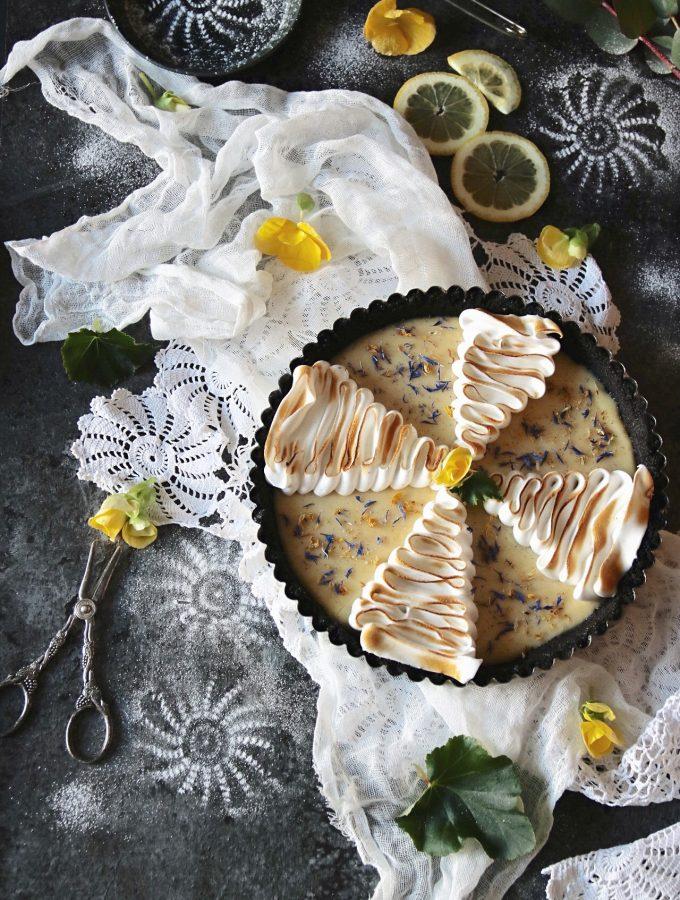 no-bake citron maräng paj med Oreo botten
