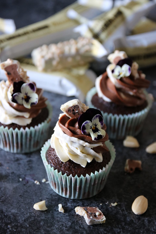 saftiga choklad mocka cupcakes