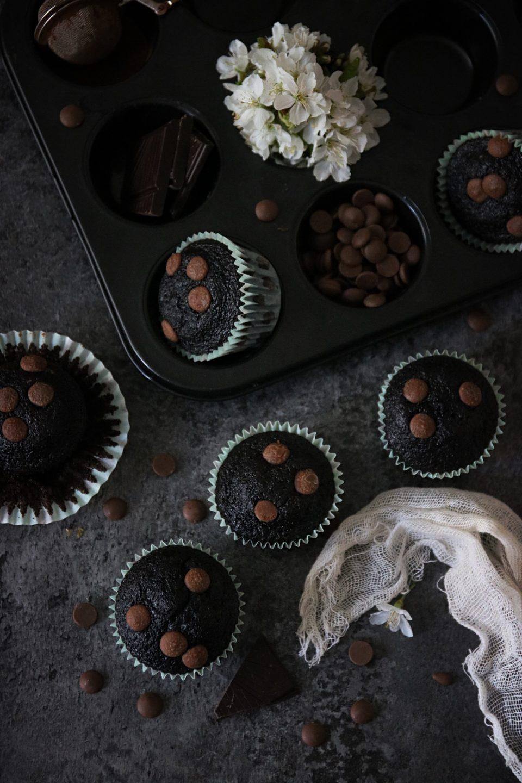 saftiga chokladmuffins