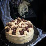 pumpa och morotstårta med choklad och karamell