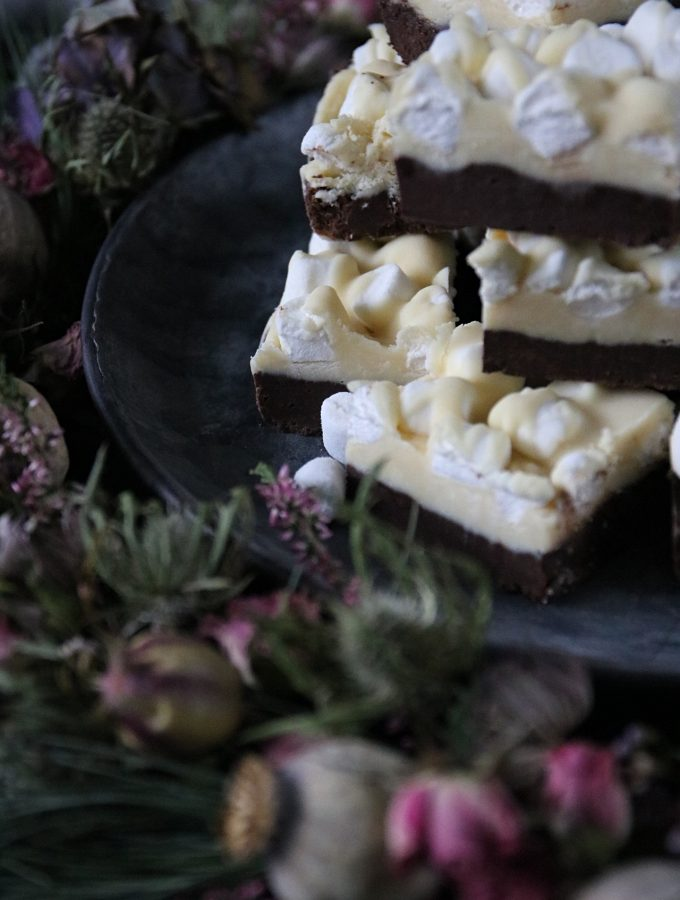 choklad fudge med mini marshmallows