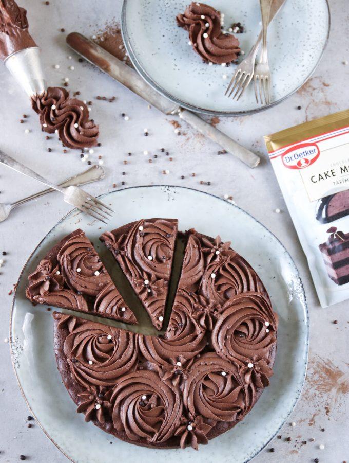 kladdkaka med chokladmousse