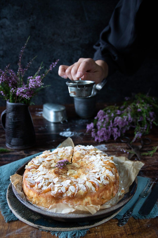 mjuk kaka med aprikos och ricotta