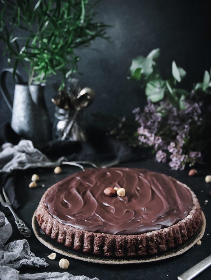 choklad och hasselnötskaka